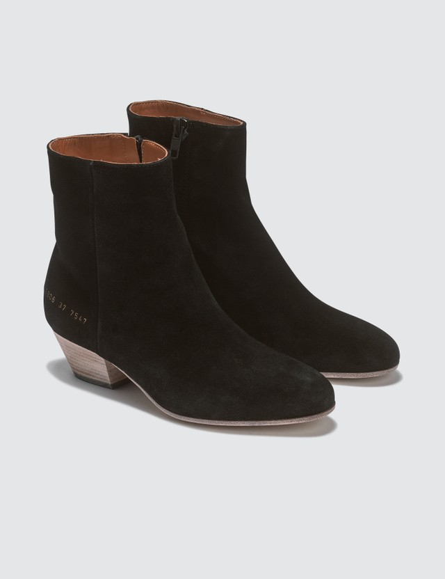 Common Projects Suede Western Boots Black Women