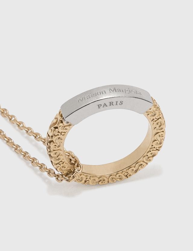 Maison Margiela Ring Necklace Palladio Semi Polished + Yellow Gold Semi Polished Plating Women