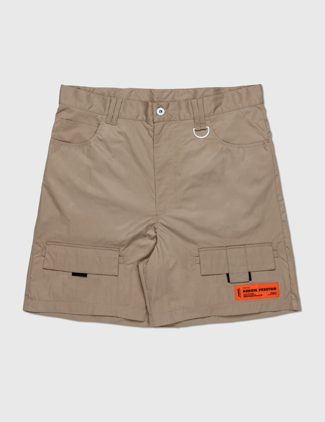 Heron Preston Cargo Shorts Khaki Men