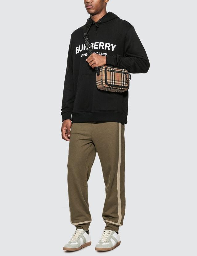 Burberry Logo Print Cotton Hoodie Black Men