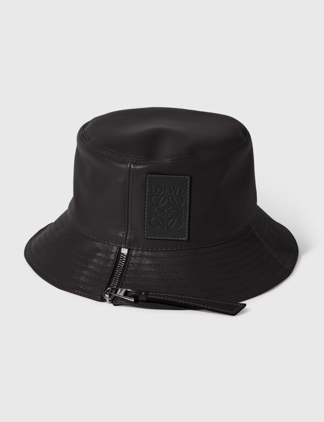 Loewe Nappa Calfskin Fisherman Hat Black Women