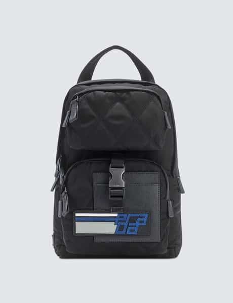 프라다 Prada Quilted One Strap Shoulder Sling Nylon Backpack