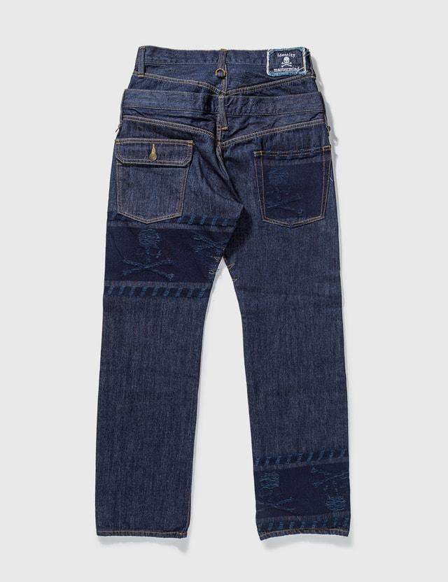 Mastermind Japan Mastermind Japan Unwashed Back Double Waist Jeans Blue Archives
