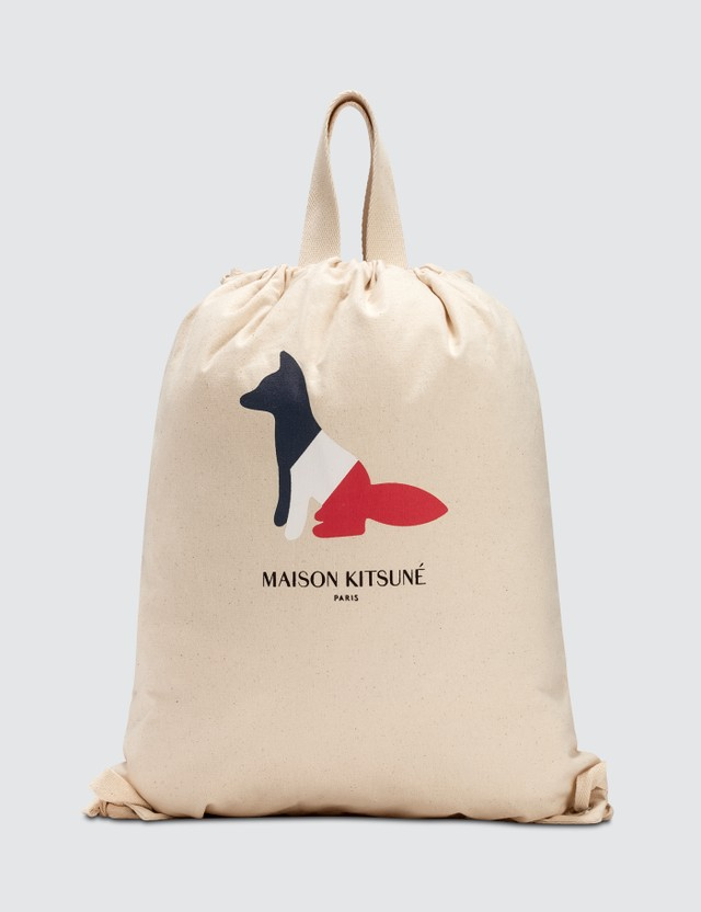 Maison Kitsune Resting Fox Tote Backpack