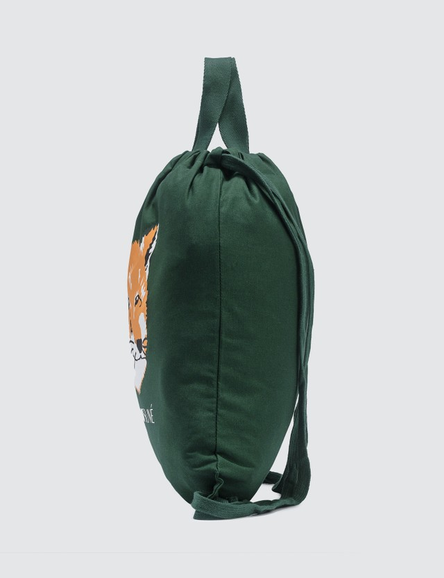 Maison Kitsune Fox Head Tote Backpack