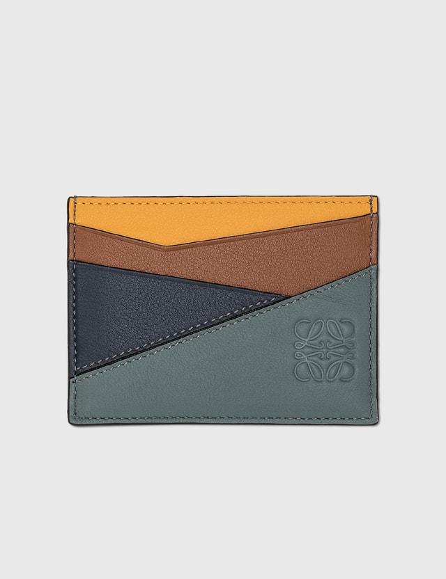 Loewe Puzzle Plain Cardholder Yellow Mango/tan Men