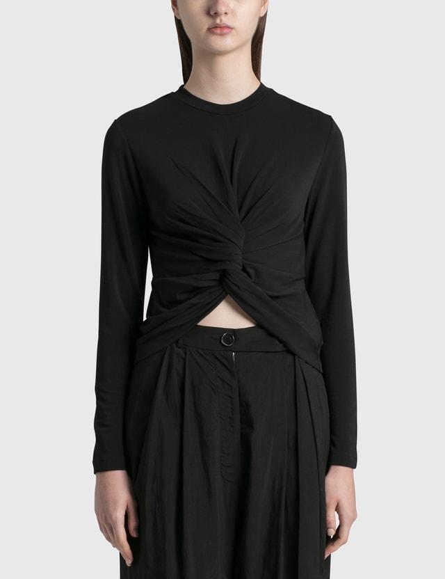 Ambush Knot Long Sleeve T-shirt Black Women