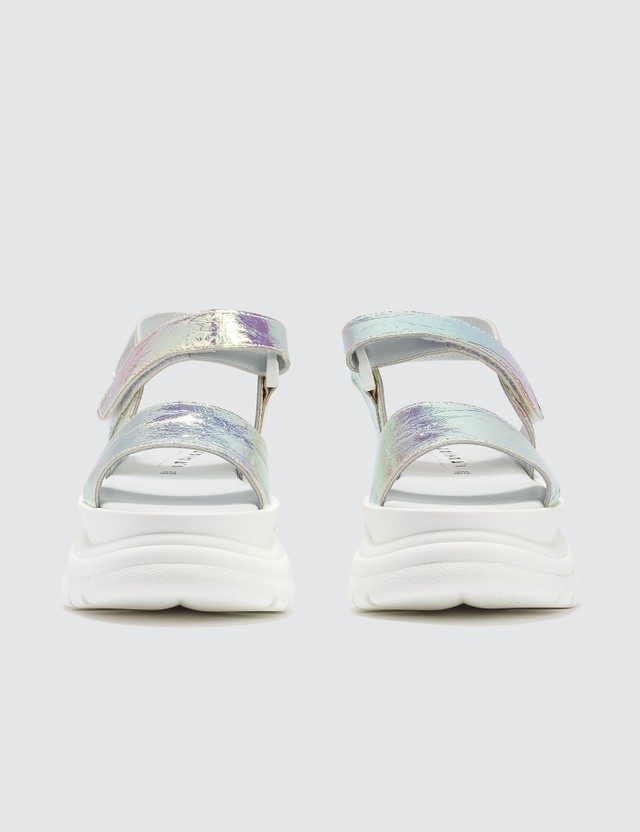 Joshua Sanders Spice Light Holo Sandals White Women