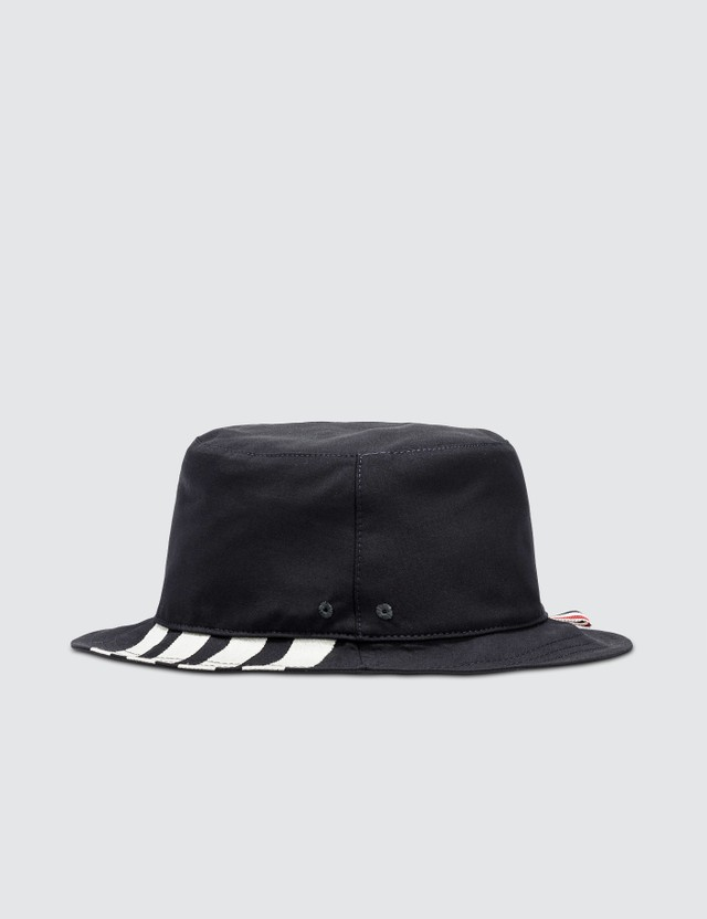 Thom Browne Classic 4-Bar Bucket Hat Navy Men