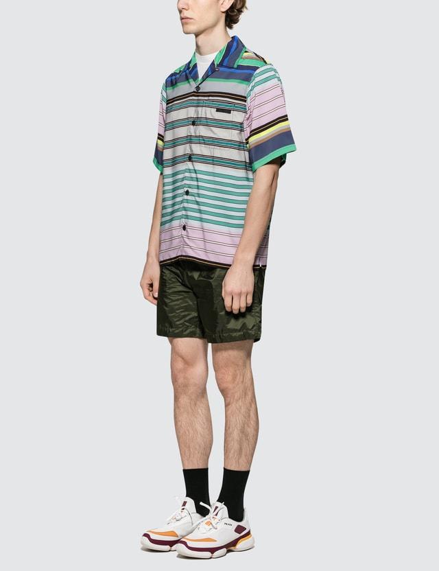 Prada Stripe Bowling Shirt