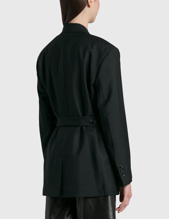 Acne Studios Double-breasted Belted Jacket Black Women
