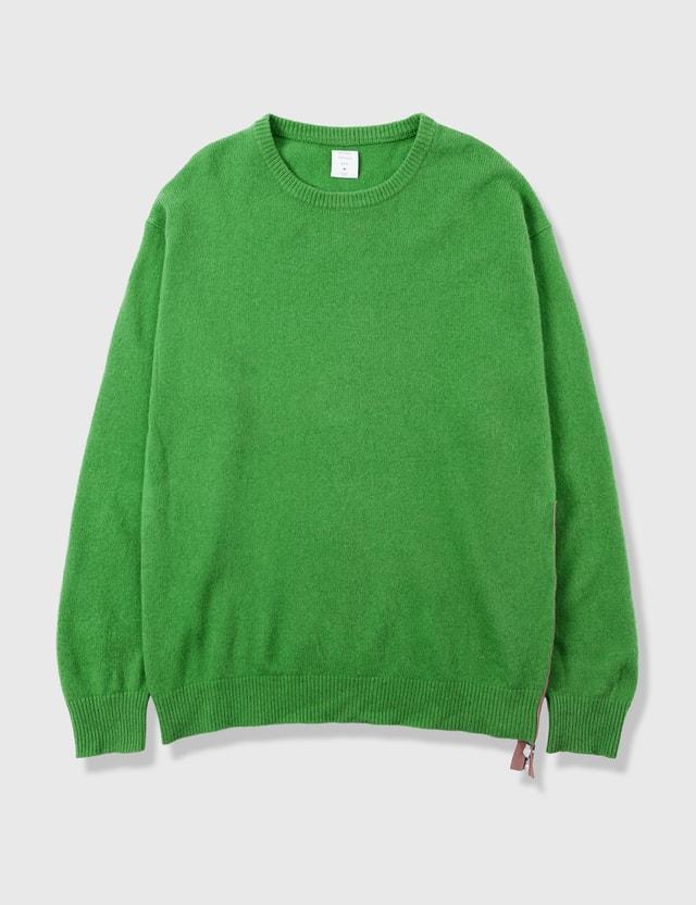 MISTERGENTLEMAN MISTERGENTLEMAN Knit With Zip Green Archives