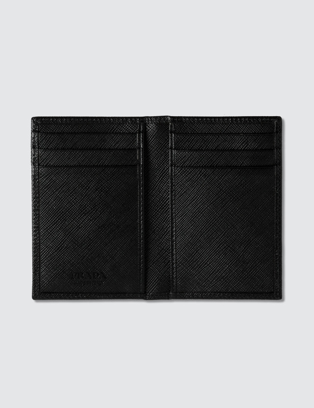 Prada Fold Logo Credit Card Holder