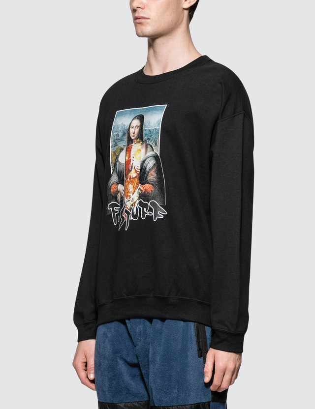 Flagstuff Mona Lisa Sweatshirt Black  Men