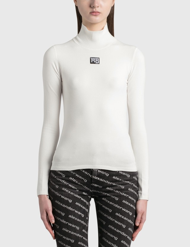 Alexander Wang.T Turtleneck Bodycon Top Soft White Women