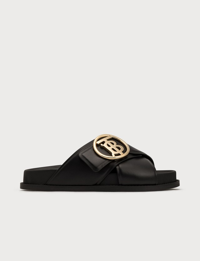 Burberry Monogram Motif Leather Slides