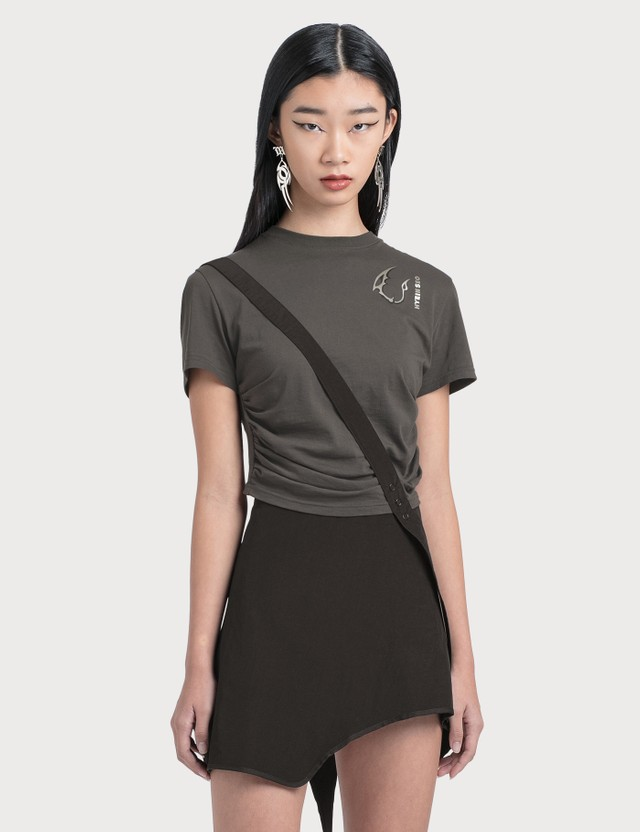 Hyein Seo Shirring Cropped Top