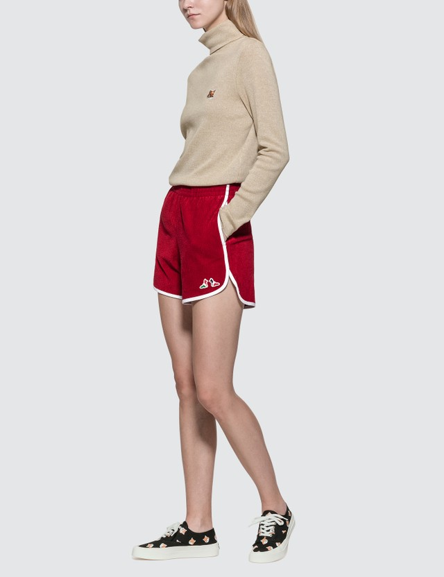 Maison Kitsune Turtleneck Fox Head Patch Sweater