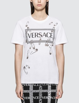 Versace Box Logo With Pins T-shirt
