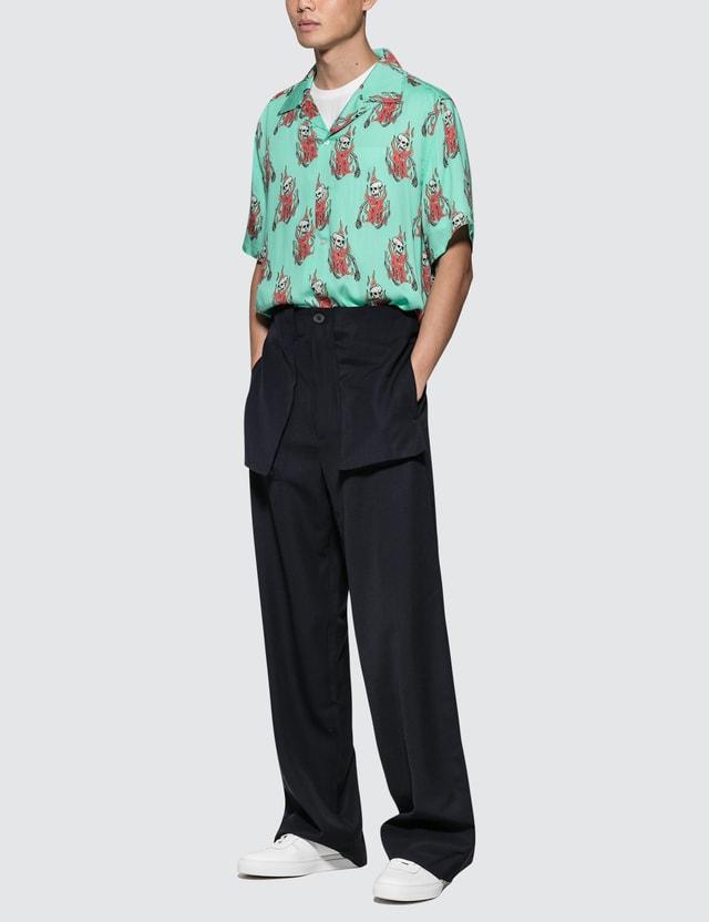 b090773f SSS World Corp - Flaming Skeleton Hawaiian Shirt | HBX