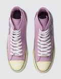 Palm Angels Palm High Top Canvas Sneaker Purple White Men