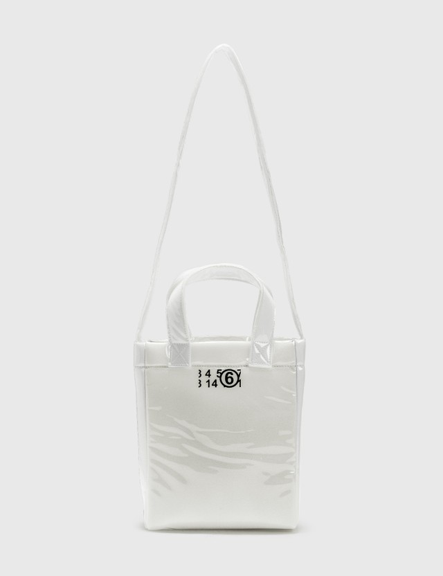 MM6 Maison Margiela Mini PVC Foam Shopping Bag Trasparent Women