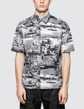 MSGM City Print S/S Bowling Shirt Picture
