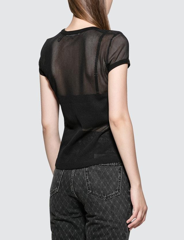Helmut Lang Mesh Logo Baby Short Sleeve T-shirt