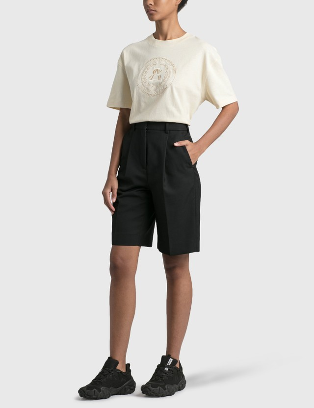 Acne Studios Elice Embroidered T-shirt Coconut White Women