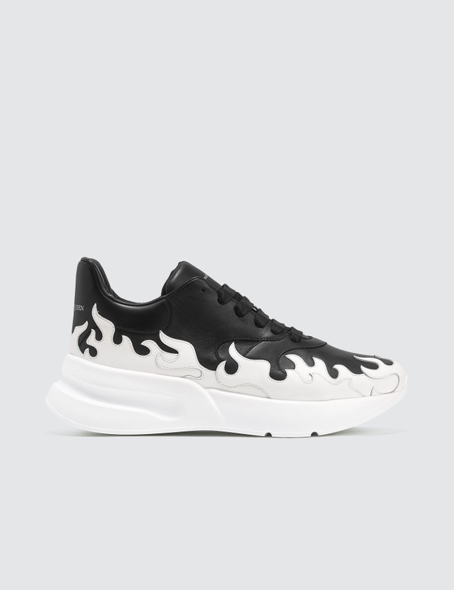 Alexander McQueen Leather Flame Sneakers
