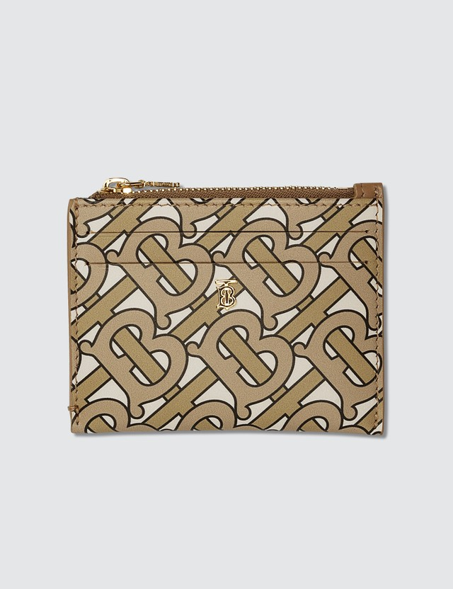 Burberry Monogram Logo Zip Card Holder
