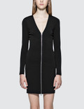 Alexander Wang.T Stretch Faille Ponte L/S Dress With Front Zipper Picutre
