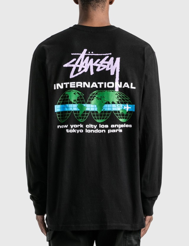 Stussy International Long Sleeve T-Shirt Black Men