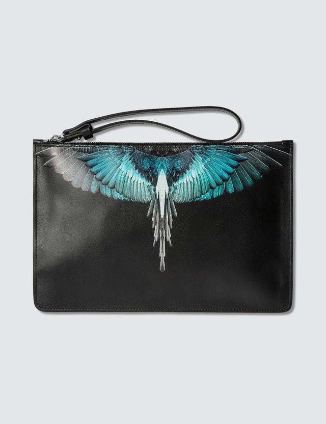 Marcelo Burlon Turquoise Wings Pouch