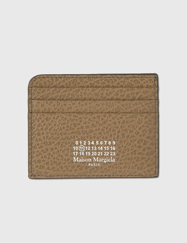 Maison Margiela Grainy Leather Card Holder Camel Women
