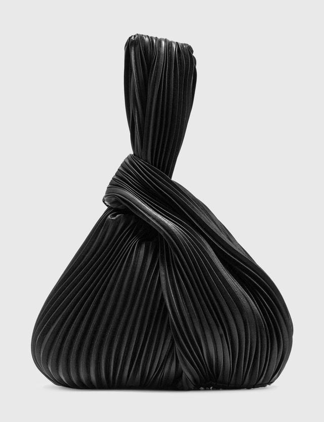Nanushka Jen Vegan Leather Pleated Bag Black Pleat Women