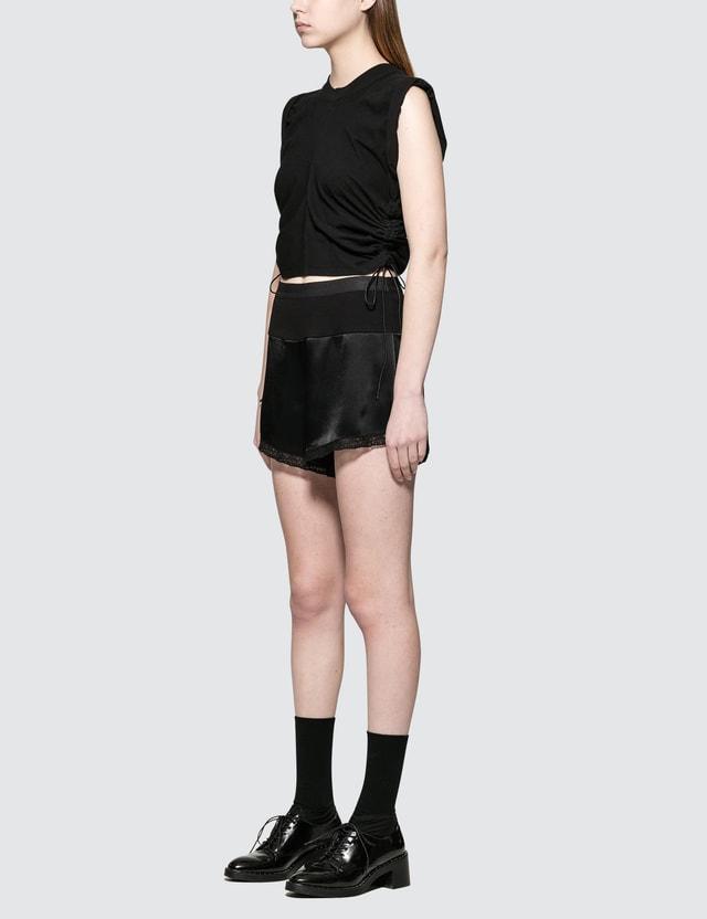 Alexander Wang.T High Twist Jersey Crop Top With Wide Ties