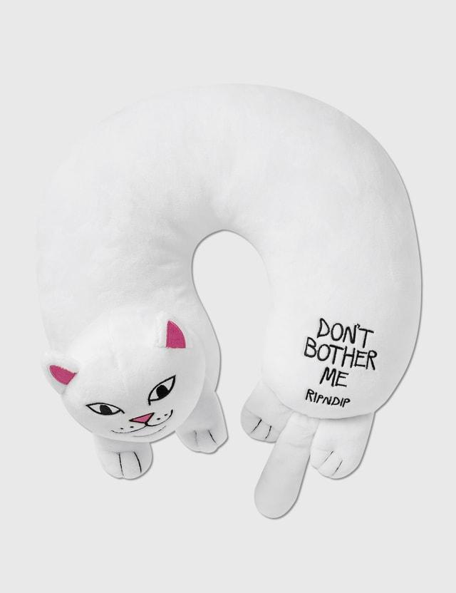 RIPNDIP Don't Bother Me Travel Neck Pillow White Unisex
