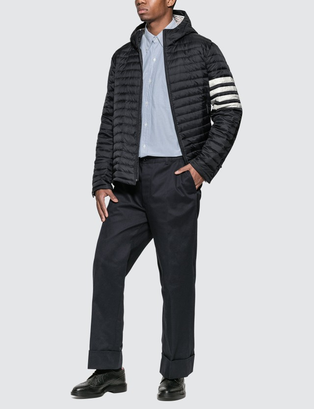 Thom Browne 4 Bar Stripe Down-filled Quilted Hooded Jacket