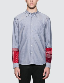 SOPHNET. Bandana Panel Sleeve B.D Shirt