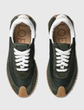 Loewe Flow Sneaker Dark Green/white Women
