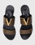 Versace Virtus Flat Mules Oud-oro Caldo Women