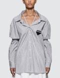 Prada Striped Cotton Poplin Shirt Picture