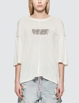 Unravel Project Lines Reverse V Cut T-Shirt