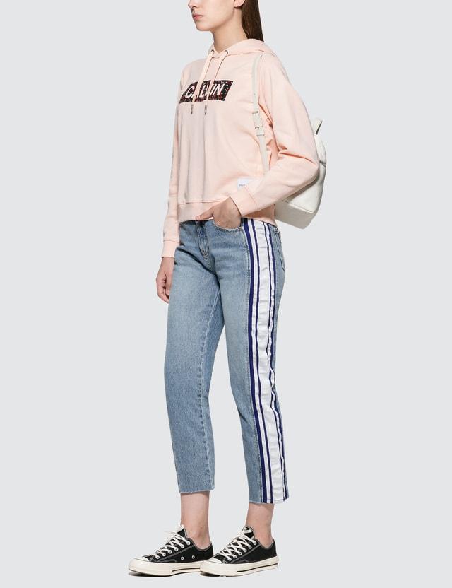 Calvin Klein Jeans Fashion Graphic Hoodie Chintz Rose Women
