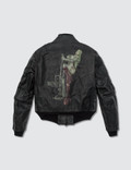 Y's Vintage Printed Leather Jacket / Black Picture