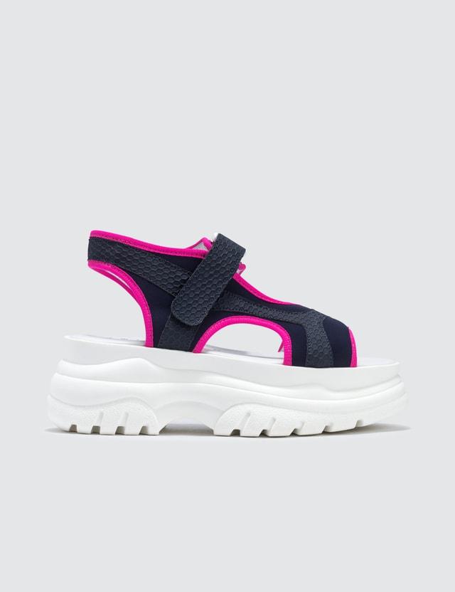 Joshua Sanders Fuxia Spice Scuba Sandals