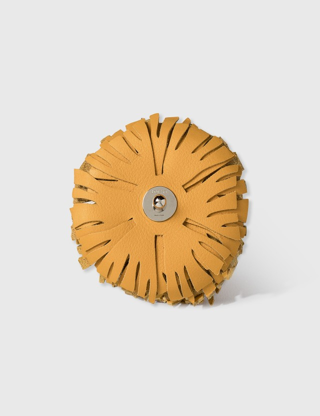 Loewe Stud Flower Charm Yellow Mango Women