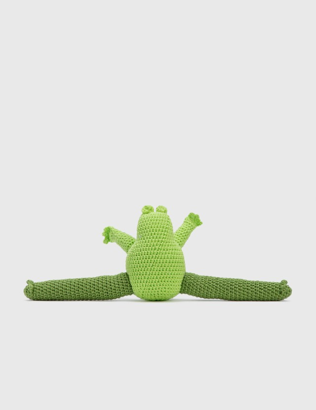Ware of the Dog Hand Crochet Frog Green Life