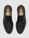 Thom Browne Classic Longwing Brogue W/ Lightweight Rubber Sole In Pebble Grain